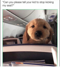 """Funny, Lol, and Can: """"Can you please tell your kid to stop kicking  my seat?"""" Lol"""