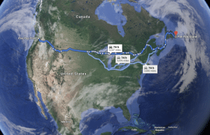 Maybe the next Pewdiepie series could be a travel blog, question mark?: Canada  OPee Pee Island  Poo Poo PointO  A 74 h  4,247 miles  74 h  4,476 miles  74 h  4,485 miles  United States  72019 Gogle  Mexico  Puerto Rico  Dominican  Cuba  Republic Maybe the next Pewdiepie series could be a travel blog, question mark?