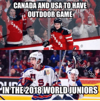 Wonder if it'll go to a shootout again? ;) Game to be played in the Buffalo Bills stadium in NY! nhl hockey worldjuniors canada teamusa: CANADAANDUSATOHAVE  OUTDOOR GAME  IN THE 2018 WORLDUUNIORS Wonder if it'll go to a shootout again? ;) Game to be played in the Buffalo Bills stadium in NY! nhl hockey worldjuniors canada teamusa