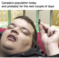 Dank, Today, and Next: Canada's population today  and probably for the next couple of days  DANK  CIT Real talk 🤣💯 https://t.co/oSdlpDCigm