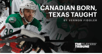 Today, Vernon Fiddler announces his retirement.  Before he hangs them up, he looks back at his journey to the @NHL. https://t.co/MppE19wWs1 https://t.co/yTXgYBXfDI: CANADIAN BORN  TEXAS TAUGHT  BY VERNON FIDDLER  UAR  THEPLAYERS  TRIBUNE Today, Vernon Fiddler announces his retirement.  Before he hangs them up, he looks back at his journey to the @NHL. https://t.co/MppE19wWs1 https://t.co/yTXgYBXfDI