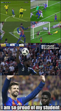 Memes, 🤖, and Student: CANAL  20  BBIC 60:34  FRA  AUS  OOTrollFootball  TheTrollFootball Insta  amsoproudofmy student Umtiti is learning well from his master https://t.co/47YHycxitS