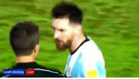 """Memes, 🤖, and Box: CanalFutbolista Gom So called 'Good boy' Leo Messi insulting the linesman during & after the game vs Chile: """"F*ck you & your mother's c*nt."""" He's Your Idol ?  Tag Messi FC fans !  Link in the comment box !  -Cr7Amol"""