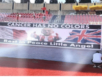 Angel, Cancer, and Peace: CANCER HAS NO COLORS  Rest in  Peace Little Angel Enorme gesto de los aficionados de Malta que recordaron a Bradley en el partido vs Inglaterra 👏👏👏