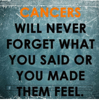Even after 20 years later... #cancer #cancerseason #cancer♋ #cancerfacts #cancerseason♋️ #cancers #crabs #cancerzodiac #cancerbaby #cancerman #cancerwoman #cancerworld #cancerian #cancerthing #cancersign #cancerteam #juneborn #julyborn #zodiac #zodiacthing #zodiactees #zodiacthingcom http://bit.ly/2uoL8Bw: CANCERS  WILL NEVER  FORGET WHAT  YOU SAID OR  YOU MADE  THEM FEEL Even after 20 years later... #cancer #cancerseason #cancer♋ #cancerfacts #cancerseason♋️ #cancers #crabs #cancerzodiac #cancerbaby #cancerman #cancerwoman #cancerworld #cancerian #cancerthing #cancersign #cancerteam #juneborn #julyborn #zodiac #zodiacthing #zodiactees #zodiacthingcom http://bit.ly/2uoL8Bw