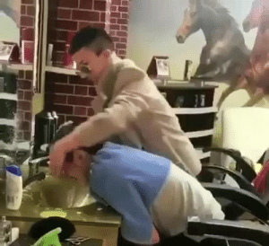 Barber, Bitch, and Lol: candletoyoureyes:  sothisislove:  when your Barber finds out you got your hair done at another place  Bitch what the fuck   LOL