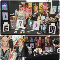 Abunaicon 2016 was a great succes! We're tired, but incredibly motivated thanks to seeing you guys in real life, talking about art, having you guys visit our panel and table and recieved some incredibly amazing fan art!   Thanks for supporting us by buying our art and merchandise as well! 💕 We hope to attend Dutch Comic Con with a table, otherwise we'll be at Abunai!con 2017 again for sure. The rest of our shedule isn't planned yet!  Thanks Wacom Creatives Europe for sharing your electric fans to combat the intense heat and Jeroen Weimar Photography for the top photo! (My mom is in the bottom left photo, by the way!): cane eth  澹  Cprtik  SUM Abunaicon 2016 was a great succes! We're tired, but incredibly motivated thanks to seeing you guys in real life, talking about art, having you guys visit our panel and table and recieved some incredibly amazing fan art!   Thanks for supporting us by buying our art and merchandise as well! 💕 We hope to attend Dutch Comic Con with a table, otherwise we'll be at Abunai!con 2017 again for sure. The rest of our shedule isn't planned yet!  Thanks Wacom Creatives Europe for sharing your electric fans to combat the intense heat and Jeroen Weimar Photography for the top photo! (My mom is in the bottom left photo, by the way!)
