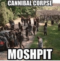 Raise of hands who loves Cannibal Corpse! \m/: CANNIBAL CORPSE  MOSH PIT Raise of hands who loves Cannibal Corpse! \m/