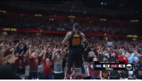 LeBron with the game-saving block and game-winning shot at the buzzer! https://t.co/EAUO5AAJ3T: CANS WIR  ENVS  23  CAVALIERS LEAD 3-2  95  FINAL  IND  CLE  98 LeBron with the game-saving block and game-winning shot at the buzzer! https://t.co/EAUO5AAJ3T