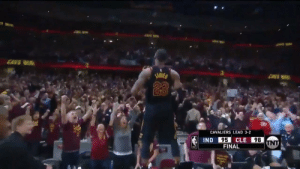 Throwback to LeBron's block and game-winning three against the Pacers in 2018 https://t.co/kOFSgtqVze: CANS WIR  ENVS  23  CAVALIERS LEAD 3-2  95  FINAL  IND  CLE  98 Throwback to LeBron's block and game-winning three against the Pacers in 2018 https://t.co/kOFSgtqVze