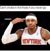 Dangggg, Melos lowkey smart 😂: Can't choke in the finals if you never go.  @NBAMEMES Dangggg, Melos lowkey smart 😂