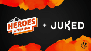 Can't have #HeroesWednesday or #HeroesCCL without the full @JukedGG experience either!  Watch along with all player perspectives all day long at the links below!  Rank Win EU: https://t.co/4EUlJiNcvX  Rank Win NA: https://t.co/3B75Dh9qvc  @HeroesCCL: https://t.co/SHIRBdGcoa https://t.co/1uBuV1G45l: Can't have #HeroesWednesday or #HeroesCCL without the full @JukedGG experience either!  Watch along with all player perspectives all day long at the links below!  Rank Win EU: https://t.co/4EUlJiNcvX  Rank Win NA: https://t.co/3B75Dh9qvc  @HeroesCCL: https://t.co/SHIRBdGcoa https://t.co/1uBuV1G45l