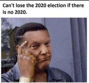 2020 Election: Can't lose the 2020 election if there  is no 2020.