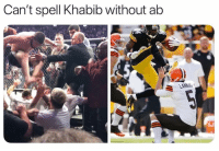 Sports, One, and Think: Can't spell Khabib without akb Which one do you think was a nastier hit 😂😂