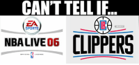CANT TELL IF  EA  HBAMEMES  SPORTS  NBALIVEO6  CLIPPERS Clippers Nation gets a new logo.