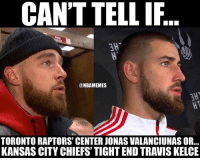 The resemblance 😳 (via Andrew Autio) nba nbamemes: CAN'T TELLIF  AMT  @NBAMEMES  TORONTORAPTORS CENTER JONASVALANCIUNAS OR...  KANSAS CITY CHIEFS TIGHTEND TRAVISKELCE The resemblance 😳 (via Andrew Autio) nba nbamemes
