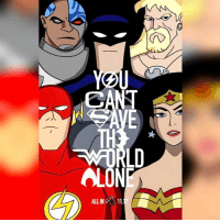 "Batman, Friday, and Memes: CANT  TH  LD  OLON  ALLIN11 Afternoon Gothamites and I hope you're all having a fantastic Friday! This weekend we'll have more ""What's In That Utility Belt: A History of Batman Gadgets""! Until then, lets kick off today with a DCAU Justice League fan art piece by illustrator Justin Bellman @Youravgbellman! See more of @Youravgbellman's works on their website at JustinBellmanArt.tumblr.com! ""Justice League"" is directed by Zack Snyder, stars @BenAffleck as Batman, @Gal_Gadot as Wonder Woman, @PrideofGypsies as Aquaman, Ezra Miller as The Flash, @Rehsifyar as Cyborg and @HenryCavill as Superman and hits theaters November 17. Are you excited to unite the League? Thanks for following and we'll have more History of the Batman soon! ✌🏼💙🦇🎬"