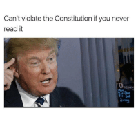 He's like meme of the year: Can't violate the Constitution if you never  read it  Openim  Men He's like meme of the year