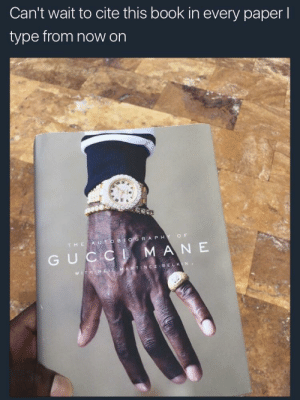 Gucci, Gucci Mane, and Lost: Can't wait to cite this book in every paper l  type from now on  R A PH  Y O F  G UC  A N E  WITH Quite often it is said if a man does not have the sauce, then he is lost, but the same man can be lost in the sauce (Gucci Mane 162).