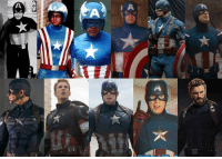 Memes, 🤖, and Cap: Cap has had some interesting looks through the years.   Whats your favourite?   (AB)