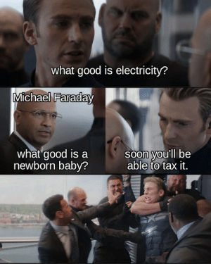 Capitalism 101, anyways Michael Faraday's legendary conversation with British Prime Minister , which may or may not have happened depending on the source: Capitalism 101, anyways Michael Faraday's legendary conversation with British Prime Minister , which may or may not have happened depending on the source