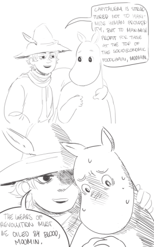 Tumblr, Blog, and Http: CAPITAUSM IS STRC  TURED NOT TO MAXI  MIZE HUMAN PROSPer  AT THE TOP OF  THE SOCIO EONOMIC   B OILED M B000  MO0MIN luftballons99:comrade snufkin