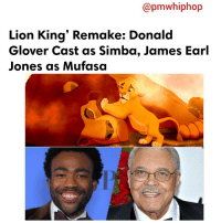 """Donald Glover, Memes, and Mufasa: Capmwhiphop  Lion King' Remake: Donald  Glover Cast as Simba, James Earl  Jones as Mufasa DonaldGlover and JamesEarlJones are ready to sing """"Hakuna Matata in LionKing' Remake: Donald Glover Cast as Simba, James Earl Jones as Mufasa. - FULL VIDEO & STORY AT PMWHIPHOP.COM LINK IN BIO Can't wait 🕣🕣"""