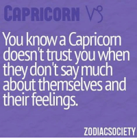 Love, Capricorn, and Free: CAPRICORN  You know Capricorn  doesn't trust you when  they don't say much  about themselves and  their feeling  ZODIACSOCIETY Feb 24, 2017. Your love plan could backfire on you. It is neither ..............HOROSCOPE VISIT: http://horoscope-daily-free.net/capricorn