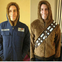 Chewbacca, Tumblr, and Blog: CAPT. SOLO srsfunny:Solo/Chewbacca Reversible Jacket