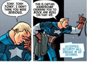 Captain America loves rock and roll?: Captain America loves rock and roll?