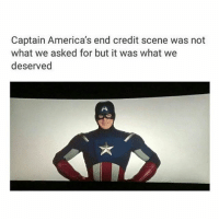 @starlores ThiS wAs tHe beSt crediT scenE wdyM Tags: * ° ° ° captainamerica steverogers stucky stevenrogers civilwar cap3 romanogers captainamericacivilwar captainamericathefirstavenger captainamericathewintersoldier wintersoldier jamesbarnes jamesbuckybarnes buckybarnes chrisevans sebastianstan_thewintersoldier chrisevans sebastianstan teamtony tonystark pepperpotts blackpanther stark robertdowneyjr marvel fandom: Captain America's end credit scene was not  what we asked for but it was what we  deserved @starlores ThiS wAs tHe beSt crediT scenE wdyM Tags: * ° ° ° captainamerica steverogers stucky stevenrogers civilwar cap3 romanogers captainamericacivilwar captainamericathefirstavenger captainamericathewintersoldier wintersoldier jamesbarnes jamesbuckybarnes buckybarnes chrisevans sebastianstan_thewintersoldier chrisevans sebastianstan teamtony tonystark pepperpotts blackpanther stark robertdowneyjr marvel fandom