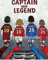 Football, Memes, and Emojis: CAPTAIN  and  LEGEND  TERRY  TOTTI  26 21  ROONEY  LAHM Captain's and Legends 👍🏻❤️ ... 🔹FREE FOOTBALL EMOJI'S --> LINK IN OUR BIO!!! ➡️Credit: OriginalTrollFootball