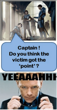 "Tumblr, Blog, and Http: Captain!  Do you think the  victim gotthe  point'?  VIC  YEEAAAHHI <p><a class=""tumblr_blog"" href=""http://mtg-realm.tumblr.com/post/40032407943/magic-the-gathering-funnies-meet-horatio-caine"">mtg-realm</a>:</p> <blockquote> <p>Magic: the Gathering - funnies</p> <p>Meet Horatio Caine - Azorious CSI.</p> </blockquote>"
