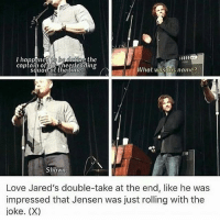 I'm pretty sure I've seen this video. During my hours of watching a load of con videos I think I watched it. Idk the name of the video though. I suppose you'd just type in something to do with Jensen dating the captain of the cheerleaders - spn spncw spnfans spnfan spnfamily spnfandom supernatural supernaturalcw supernaturalfans supernaturalfan supernaturalfamily supernaturalfandom destiel destielforever j2 brothers winchester akf yana lyf jensenackles bigbrother deanwinchester squirrel jaredpadalecki littlebrother samwinchester moose jarpad: captain of checnlcading  hat was his name?  Shawn.  Love Jared's double-take at the end, like he was  impressed that Jensen was just rolling with the  joke. (X) I'm pretty sure I've seen this video. During my hours of watching a load of con videos I think I watched it. Idk the name of the video though. I suppose you'd just type in something to do with Jensen dating the captain of the cheerleaders - spn spncw spnfans spnfan spnfamily spnfandom supernatural supernaturalcw supernaturalfans supernaturalfan supernaturalfamily supernaturalfandom destiel destielforever j2 brothers winchester akf yana lyf jensenackles bigbrother deanwinchester squirrel jaredpadalecki littlebrother samwinchester moose jarpad