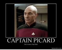 Captain Picard knows: CAPTAIN PICARD  He knows that feel.  fakeposters.com Captain Picard knows