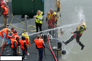 Tumblr, Blog, and Earth: captainamerica-in-middle-earth:  cleverpudding:  niknak79:  Kids playing with a water hose during coast guard demonstration.  the longer I look at this the harder I laugh  I like how nobody really seems concerned