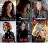 ; Evolution of Black Widow and her hair styles. Which is your favorite? ⠀⠀⠀⠀ AvengersInfinityWar TheAvengers BlackWidow NatashaRomanoff Marvel ScarlettJohansson: CAPTAINAMERICA  THE WINTER SOLDIER  CAPTAIN AMERICA ; Evolution of Black Widow and her hair styles. Which is your favorite? ⠀⠀⠀⠀ AvengersInfinityWar TheAvengers BlackWidow NatashaRomanoff Marvel ScarlettJohansson