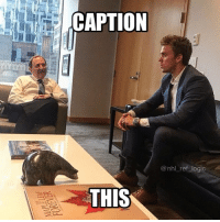 Logic, Memes, and National Hockey League (NHL): CAPTION  @nhl_ref logic  THIS Best caption gets posted and tagged tomorrow. Caption this pic 👇🏻