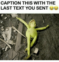 Caption This: CAPTION THIS WITH THE  LAST TEXT YOU SENT