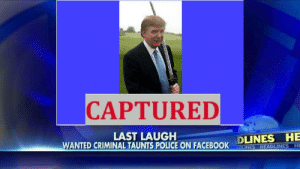 https://t.co/8kvXGKlXAx: CAPTURED  DLINES HE  BLINES HEADLINES HE  LAST LAUGH  WANTED CRIMINAL TAUNTS POLICE ON FACEBOOK https://t.co/8kvXGKlXAx