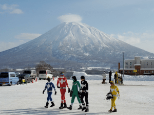 Captured on holiday skiing in Japan. Zordon said take a lap.: Captured on holiday skiing in Japan. Zordon said take a lap.