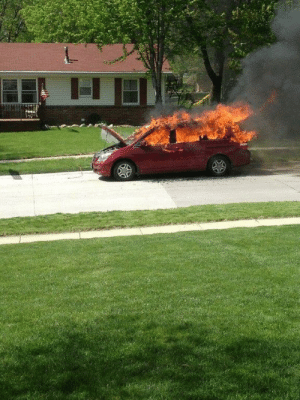 Car on Fire without Moose Family Template HD: Car on Fire without Moose Family Template HD