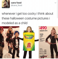 "Black Lives Matter, Black Lives Matter, and Food: cara food  @cara food  BLACK LIVES MATTER  whenever i get too cocky i think about  these halloween costume pictures i  modeled as a child  SEQUIN DIVA  COSTUME  Crayola,  INCLUDES:  JUMPER  BOLERO  BELT  ACCESSORIZE  WITH:  MICROPHONE  MAKE-UP  CRAYONS  SIZES  Small (4-6  .Illlllllll,  Medium (8-10) IIIIIII.  Large (10-12)  ENTER  KEYWORDS  WAS  IN GOTH  WE TRUST ""I follow @kalesalad and u should too"" - Kendall Jenner and Jesus"