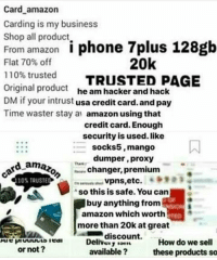25 best credit card details memes carding memes memes trial amazon business and mango card amazon carding is my business shop all product reheart Choice Image
