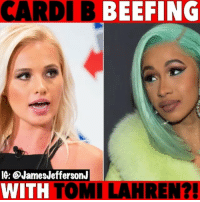 Memes, Twitter, and Cardi B: CARDI B BEEFING  IG: @JamesJeffersonJ  WITH TOMI LAHREN? CardiB is dragging TomiLahren all over twitter...🐸☕️