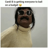 Funny, Budget, and Amazing: Cardi B is getting everyone to ball  on a budget That @fashionnova will make you look amazing 😍😂