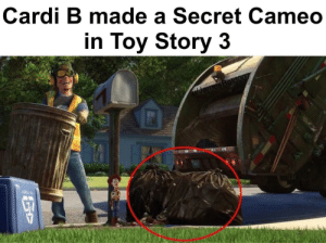 Cardi Bad: Cardi B made a Secret Cameo  in Toy Story 3  ulJamesBaldo07 Cardi Bad