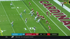 ACTION JACKSON. @_DJack01's 2nd INT of the game! #KeepPounding #CARvsAZ  ?: FOX ?: NFL app // Yahoo Sports app Watch FREE on mobile: https://t.co/qnNxI5gZ8j https://t.co/Fj9ql8jGwA: CARDIN  FOX NFL  2nd & 14  03  4:51  4th  0-1-1 20  CARDINALS  0-2 35  PANTHERS  PHI (1-2) me in 2nd quarter (knee)  NFL ACTION JACKSON. @_DJack01's 2nd INT of the game! #KeepPounding #CARvsAZ  ?: FOX ?: NFL app // Yahoo Sports app Watch FREE on mobile: https://t.co/qnNxI5gZ8j https://t.co/Fj9ql8jGwA