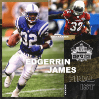 Football, Memes, and Cardinals: CARDINALS  PRO FOOTBALL  HALL OF FAME  NTON.OH  EDGERRIN  JAMES  IST .@EdgerrinJames is a @ProFootballHOF Class of 2019 Finalist! #PFHOF19  📺: Gold Jacket Finalists LIVE now on @nflnetwork https://t.co/GPsIjqv0nE