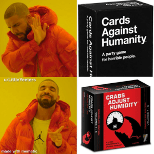 CAH Crabs Adjust HumidityVolume 2Cards Against Humanity Parody Expansion